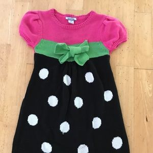 Girls 3T winter dress with Polka dots