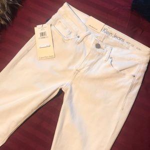 New Calvin Klein Ultimate Skinny White Jeans