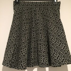 PacSun patterned skater skirt