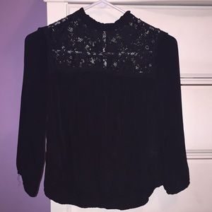 Black lace blouse from Forever 21