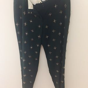 J. Crew Collection pants with beads