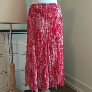 Red white broomstick skirt by Christopher & banks