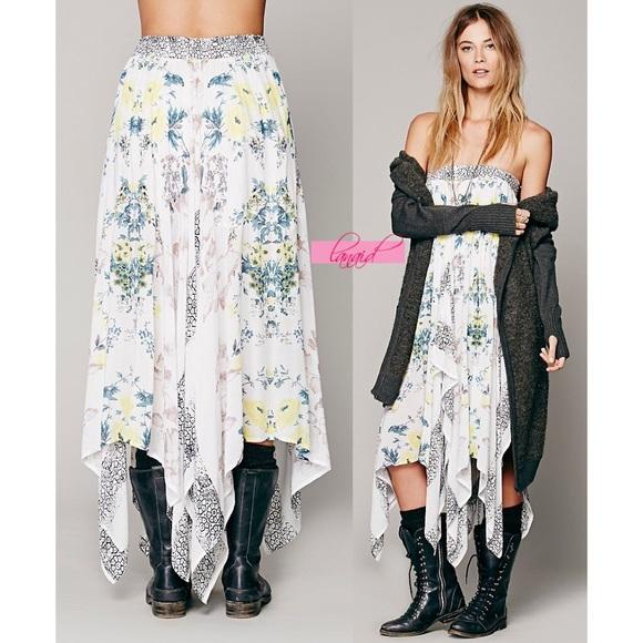 bda33e6c96 Free People Skirts | Day Tripper Convertible Skirt Dress | Poshmark