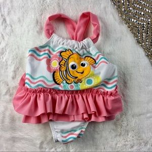 Disney NEMO 3 6 months NWOT SWIMSUIT NEW PINK