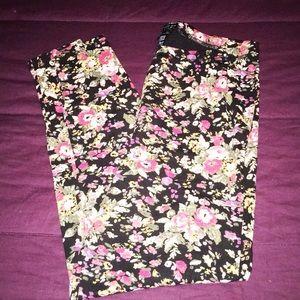 Cute Floral Leggings EUC Plus 1X