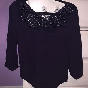 Navy blouse in small from Forever 21