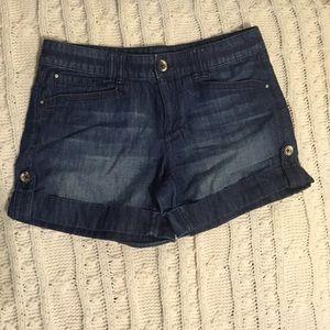 White House Black Market denim shorts, light wear