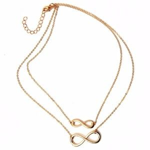 Gold Plated Infinity Figure 8 Pendant Necklace