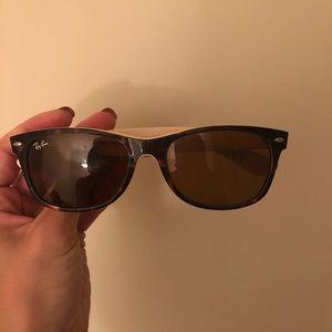 Tortoise shell/cream Rayban sunglasses
