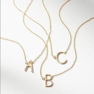 "NEW Anthropologie Gold Monogram ""B"" Necklace!"