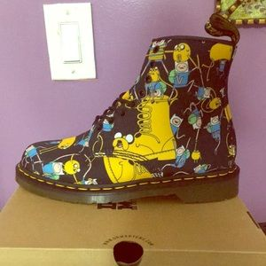 Printed Canvas Adventure Time Doc Martens