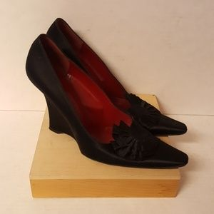Yves Saint Laurent shoes some wear and tear