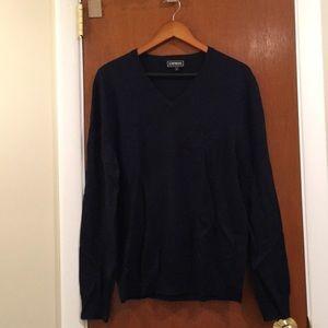 EXPRESS Blue V-Neck Sweater