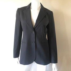 THEORY Black Women's Blazer 2 Button Jacket Sz 6