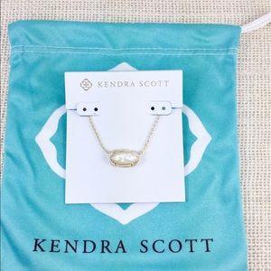 Kendra Scott Elisa ivory pearl gold necklace