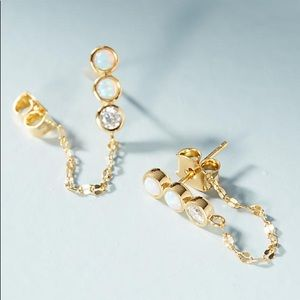 NEW Anthropologie Nicole Chained Post Earrings!