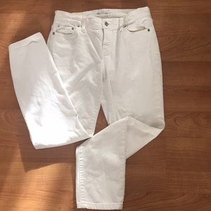 MadeWell Alley Straight Jeans white made well