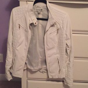 White leather vest from Forever 21