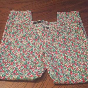 J.Crew Toothpick floral ankle skinny jeans SZ 29