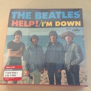 The Beatles 7-inch vinyl & t-shirt
