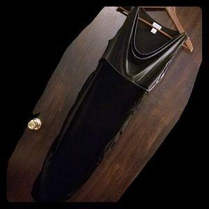 Black velvet maternity dress