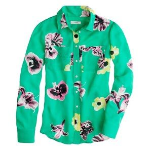 J Crew Collection Floral Blouse
