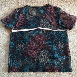 Too, Sheer Embroidered Flower Power ZARA