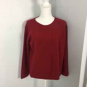 Eileen Fisher Red Holiday Sweater