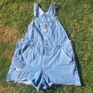 THRIFTED BUTTERFLY OVERALLS
