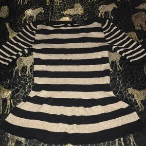 White House black market stripe blouse