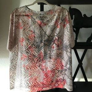 Chicos lace top size 3