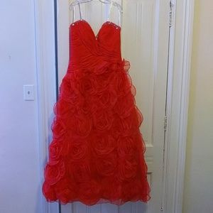 Red Evening Gown Special Occasion Prom Homecoming