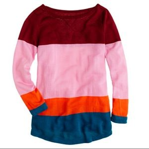 J.Crew colorblock boatneck Top