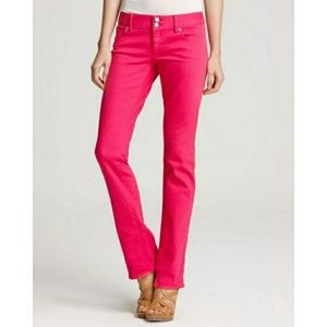 Lilly Pultizer Hot Pink Straigh Leg Jean