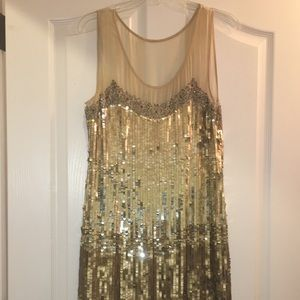 Gold sequin cocktail dress!! 😍😍❤️