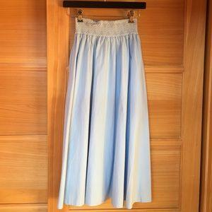 Zara Women's Blue Skirt With Side Pockets