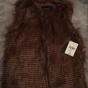 Fur vest NWT size small
