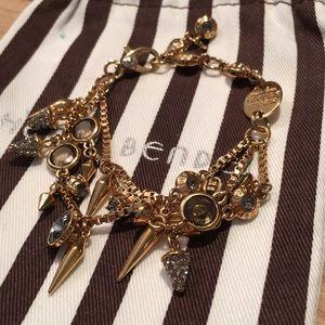Henri Bendel layered Gold Plate Bracelet