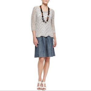 Eileen Fisher Chambray A-Line Skirt Size XS