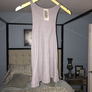 EUC Free People Gray Modal Tank Top raw seems