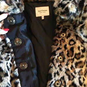 NWOT JUICY COUTURE leopard faux fur coat