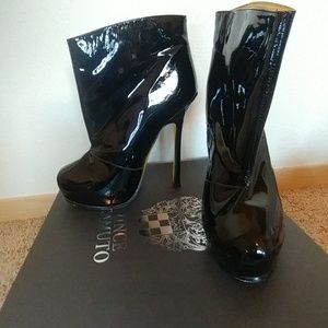 YSL ankle boots with sky height heels
