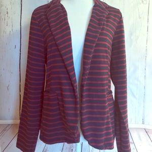 Xhilaration Striped Casual Business Jacket