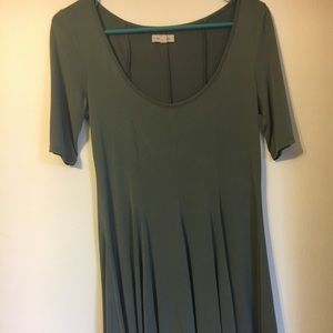 Light olive green 3/4 sleeve dress urban outfitter