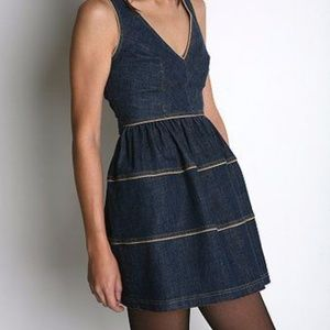 Betsey Johnson Blue Denim Jean Mini Dress