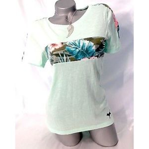 PINK VICTORIA SECRET TROPICAL SHIRT SIZE SMALL