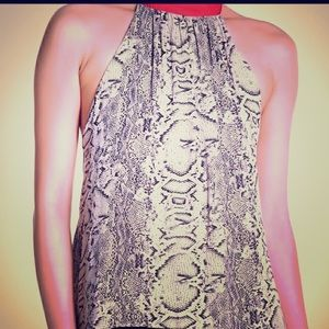 Free people nwt snakeskin tank top w/red