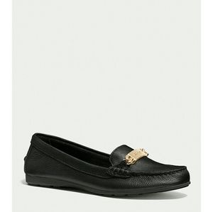 New! COACH Pebbled Leather Flats Loafers Moccasins