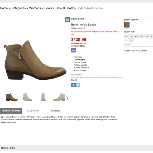 Sale Lucky Brand Bryton Brindle Ankle