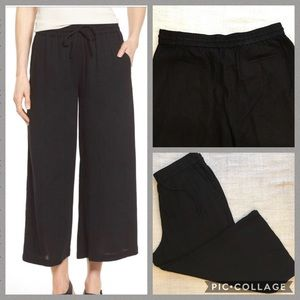 Eileen Fisher Cotton Gauze Wide Leg Crop Pant NWT